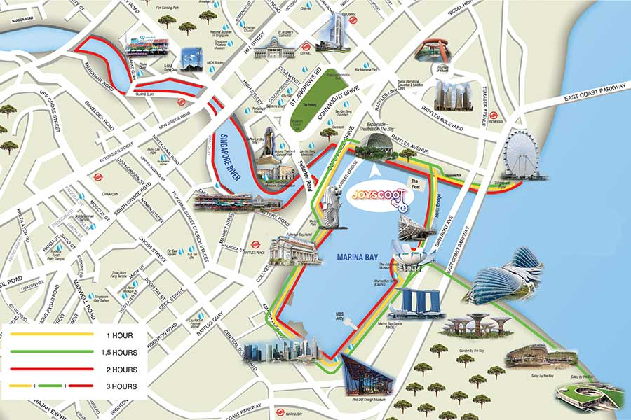 See full rider's map of Marina Bay